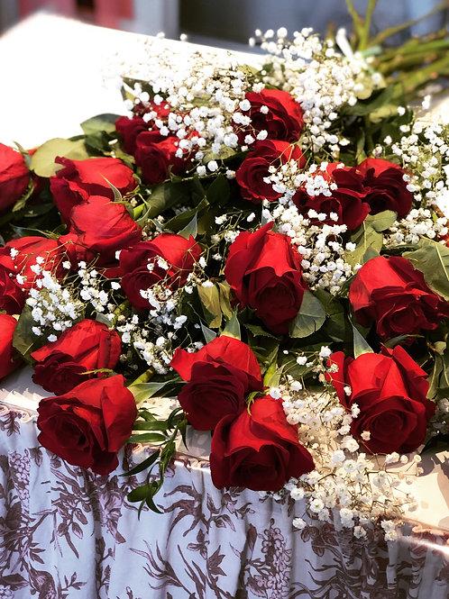 24 rose rosse (due dozzine)