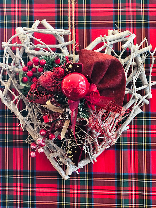Cuore Holly Jolly Rosso