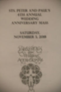 Sts. Peter & Paul 4th. annual Anv. Mass