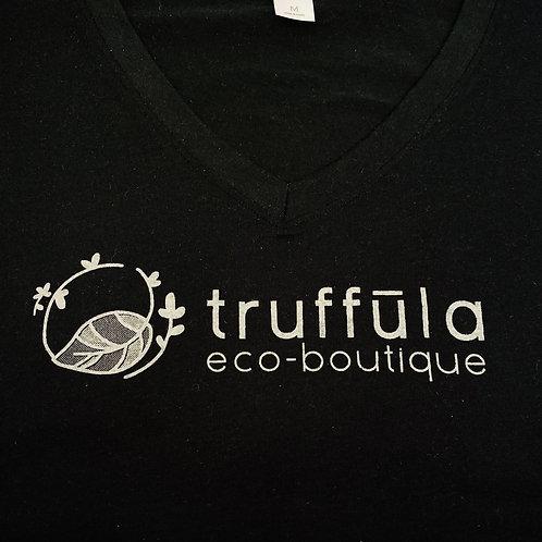 Tee Shirt (V-Neck Truffula Women's Size L)