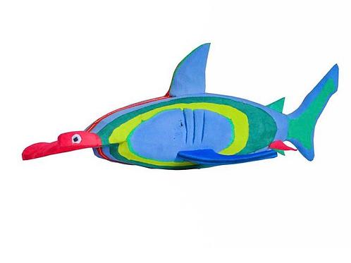 Flip Flop Sculpture (Hammerhead Shark)