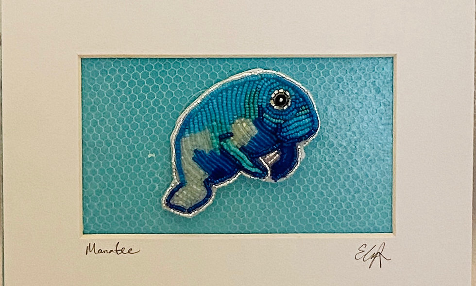 Bead Embroidery Manatee