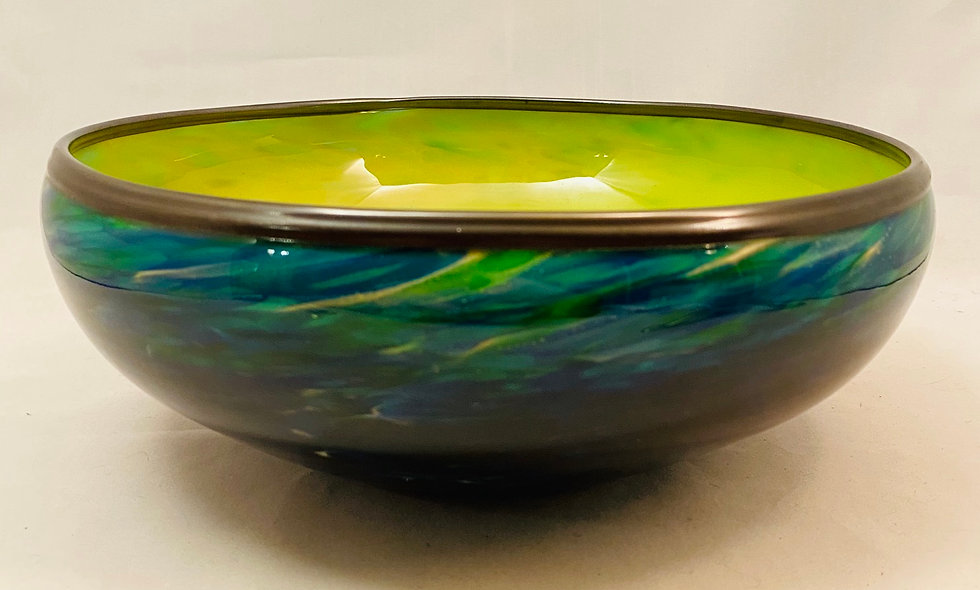 Swirl Bowl - Green/Blue