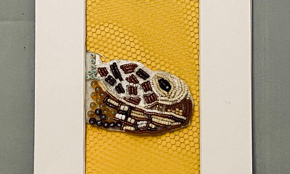 Bead Embroidery Turtle