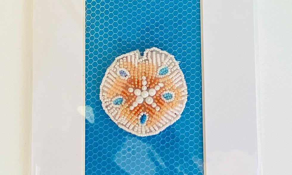 Bead Embroidery  Sand Dollar