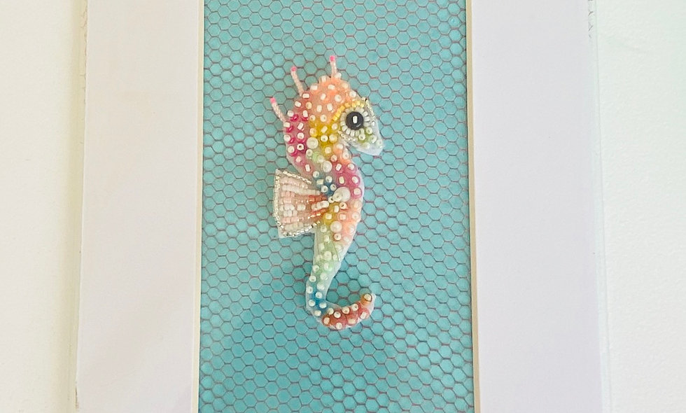 Bead Embroidery Seahorse