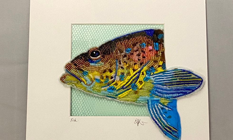 Bead Embroidery  Fish