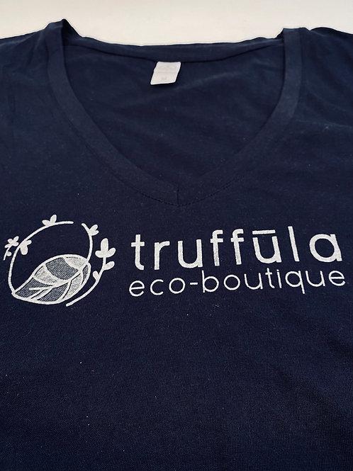 Tee Shirt (V Neck Truffula Women's Sz M)