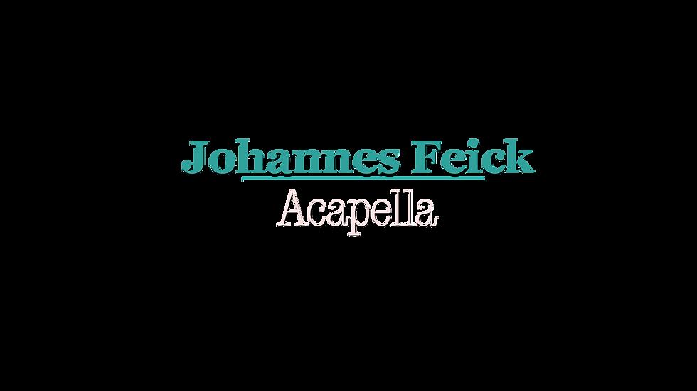 Johannes Feick Acapella Logo Vollformat.