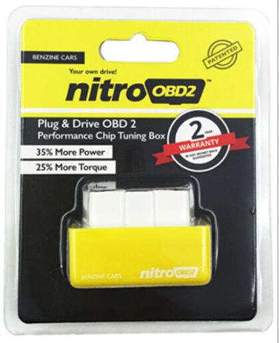 Nitro OBD2 Gelb V3 Benzin Chiptuning über OBD für alle KFZ Benzin Modelle