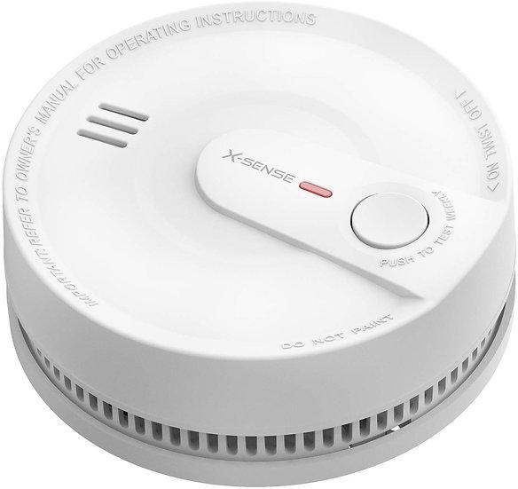 Rauchmelder 10 Jahres Batterie, intelligenter Feuermelder, 5 Fach Schutz