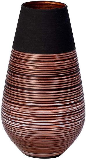 Villeroy & Boch Manufacture Swirl Vase Soliflor, 18 cm, Kristallglas, Schwarz/Br
