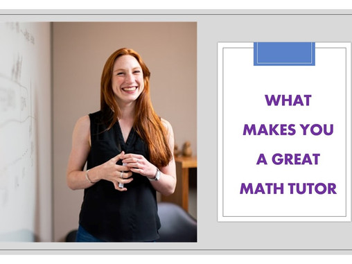 How to become a math tutor