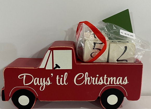 RED TRUCK COUNTDOWN TO CHRISTMAS
