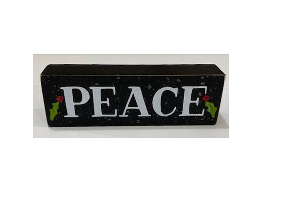 PEACE BLOCK SITTER