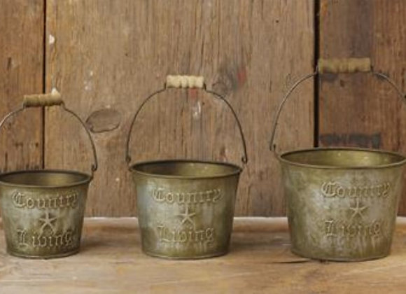 COUNTRY LIVING PAIL SET
