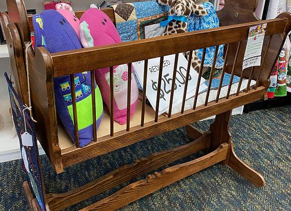 WOOD TOY CRIB
