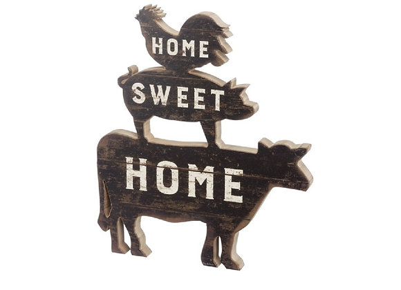 HOME SWEET FARM SITTER OR WALL HANGING