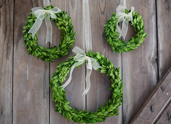 "10"" BOXWOOD ROUND WREATH"