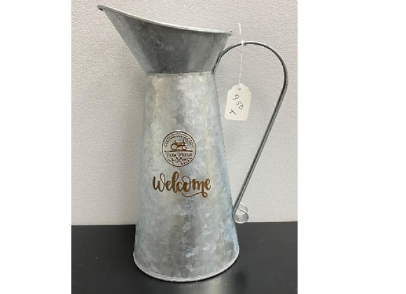 WELCOME TIN PITCHER