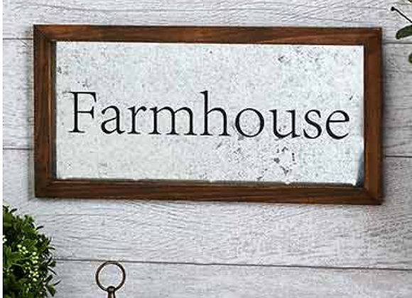 GALVANIZED FARM SIGN