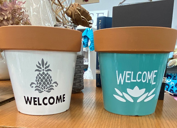 WELCOME PLANT POTS