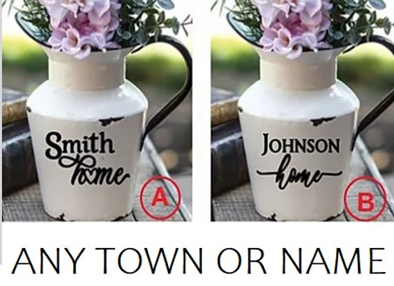 WHITE HOMESTYLE PITCHER (CUSTOMIZE)