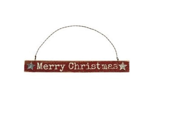 RED CHRISTMAS SIGN