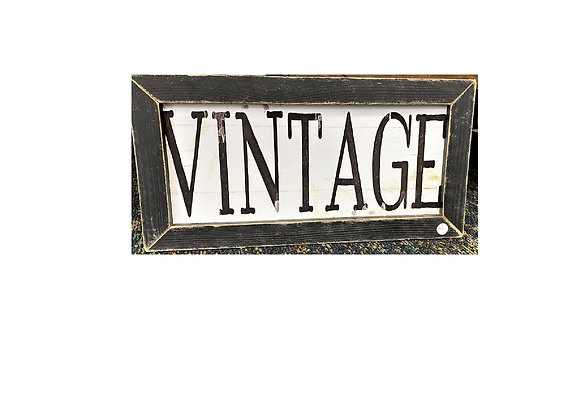 BLACK WASH VINTAGE WALL SIGN