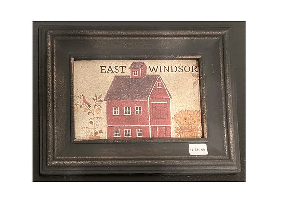 EAST WINDSOR FRAMED PLAQUE SIGN