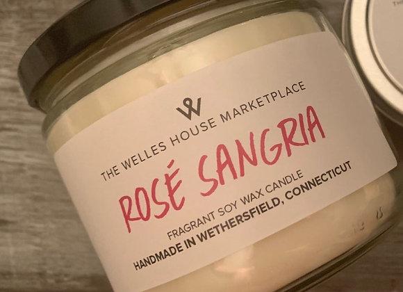 ROSE SANGRIA JAR CANDLE