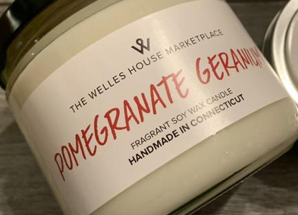 POMEGRANATE GERANIUM JAR CANDLE