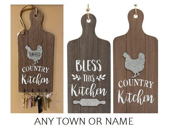 TOWN NAME CUTTING BOARD