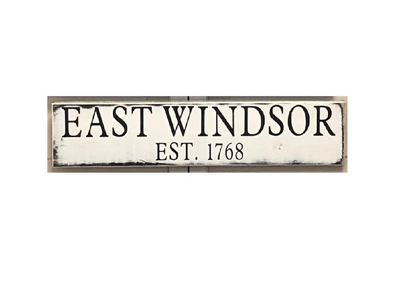 EAST WINDSOR WOOD TOWN SIGN