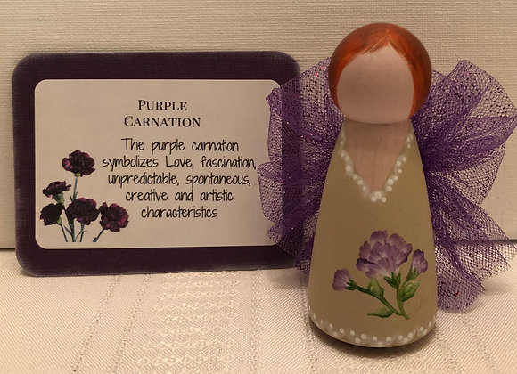 PURPLE CARNATION CARING ANGEL