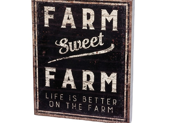 FARM SWEET FARM BOX SIGN