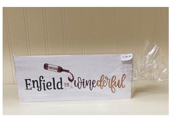 ENFIELD WINE SIGN