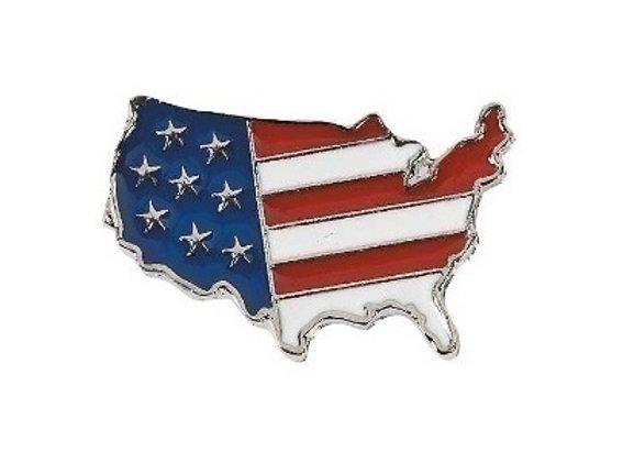 FLAG USA SILVERTONE PIN