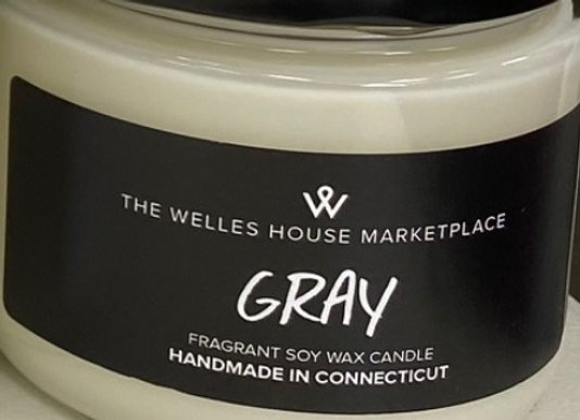 GRAY SCENT JAR CANDLE