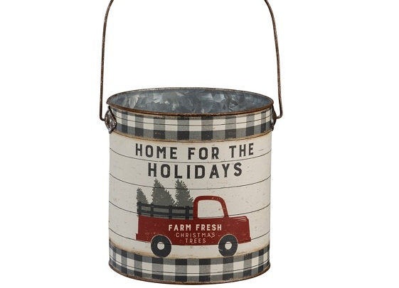 RED TRUCK HOLIDAY BUCKET