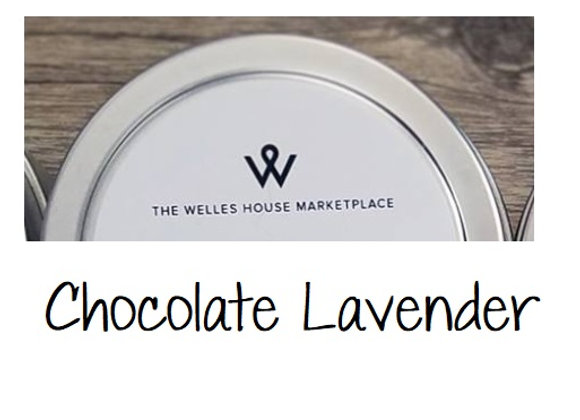 CHOCOLATE LAVENDER TIN CANDLE