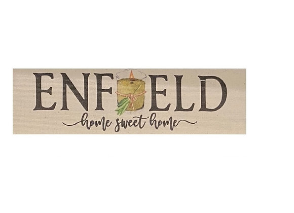 ENFIELD JAR CANDLE SIGN