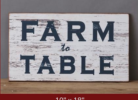 FARM TO TABLE DISTRESSED SIGN