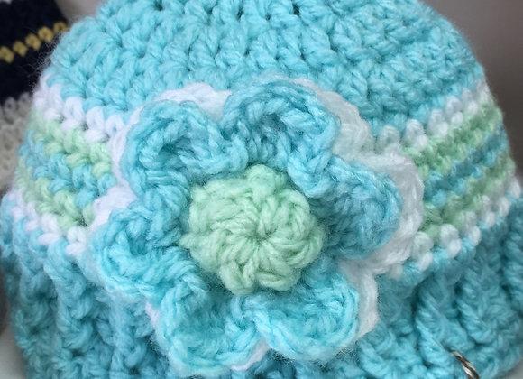 BABY HAT SOFT BLUE
