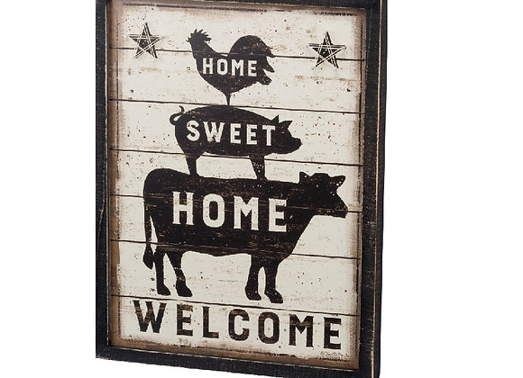 HOME SWEET FARM WALL ART