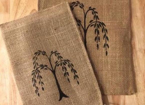 LARGE WILLOW TREE BURLAP BAG