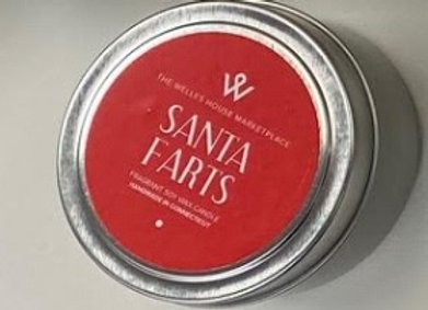 SANTA FARTS CANDLE TIN