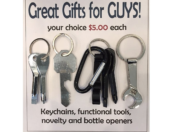 NOVELTY TOOL KEYRINGS