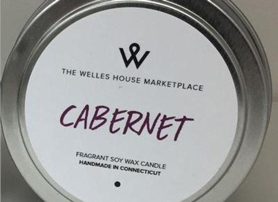CABERNET CANDLE TIN