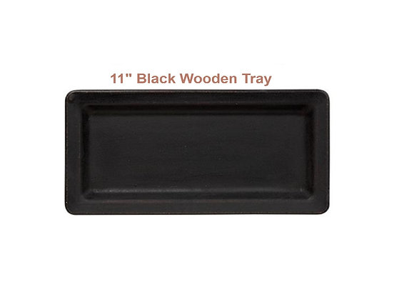 BLACK RECTANGLE WOOD TRAY